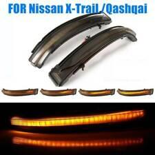 Pair LED Wing Mirror Indicator Turn Signal Light For Nissan Qashqai X-trail NEW