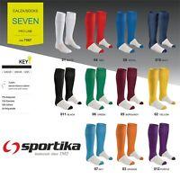 Calze Calzettoni Calcio Volley SPORTIKA Mod. SEVEN Completi Senior Junior Kids