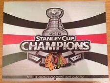 New 2010 2011 Chicago Blackhawks Team Calendar Stanley Cup Champions Edition