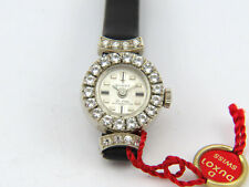Solid white Gold 14K 585 watch Uhr NOS Vintage SwissMade Duxot New small