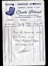 """SAVENAY (44) HOTEL DU CHEVAL BLANC & SELLERIE LITERIE """"Claude SAVENAY"""" en 1968"""
