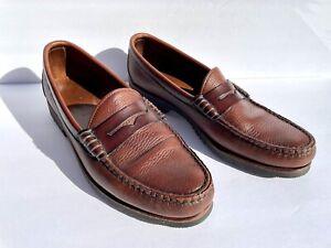 Men's Allen Edmonds Holton Size 10 B Brown Leather Penny Loafer 42205 USA