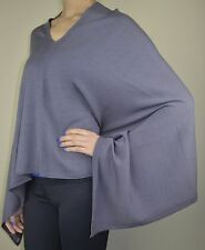 Warm Handmade  Authentic Cashmere & wool blend  Poncho, Nepal - FREE SHIPPING