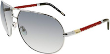 Invicta IEW004-04 AVIATOR Sunglasses SILVER / RED & GRADIENT GRAY +FREE Shirt