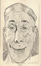 Männerportrait, handgemalte AK, ca. 20er Jahre