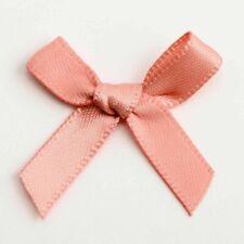 Small 3cm Wide Pre-Tied Mini Bows (6mm Satin Ribbon) Crafts Wedding Card Making