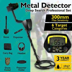 300MM Deep Sensitive Metal Detector Searching Gold Digger Treasure Hunter LCD AU
