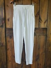 Women's High Waisted White Summer Jogger Pants Small