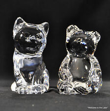 PRINCESS HOUSE - Cat & Bear 24% Lead Crystal, original labels attached
