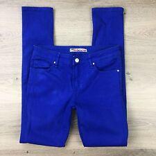 Jag Technicolor Blue Slim Leg Stretch Women's Jeans Size 8 W28 L30 (AF20)