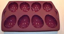 Tupperware,Silikonform Cocoon für 8 halbe Eier, dunkel-lila, NEU+OVP !!