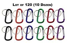 "Carabiner 2.25"" Aluminum Hook Lock Keychain Keyring Spring Belt Clip Lot of 120"