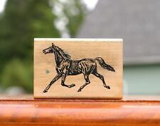 """Horse 2 1/4"""" Wood Mounted Rubber Stamp by Stamp Francisco 1982-94 # AN 375-F"""