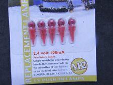 Noma Xmas bulbs-2.4v 100ma ( MB2) RED