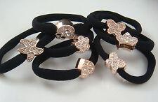 Wholesale  3PCS Girl Metal Black Elastic Hair Bands Head Beam Ponytail 6Es