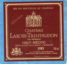 HAUT MEDOC CRU BOURGEOIS ETIQUETTE CHATEAU LAROSE TRINTAUDON 1983 RARE§10/08§