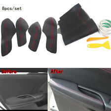 For Honda 10th Civic 16-17 Car Door Panel +Armrest Cover Surface Shell Trim 8PCS