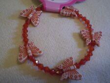 Red Butterfly Bead Bracelet - PH114