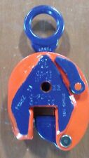 """IP 10 1TON   Inter Product Holland /CROSBY plate lifting clamp. Grip 0-3/4""""."""
