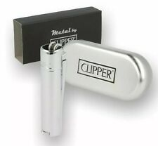 Clipper Metal Pipe Lighter Flint With Case (Crome CM085)