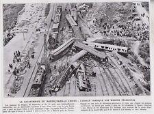1933  --  CATASTROPHE DE TRAIN DU RAPIDE DU CROISIC PRES NANTES      3G025