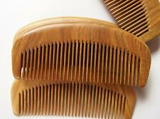 Sandal wood hair comb handmade green sandal wood small moon shape easy take