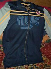 HTF Vintage Collectible Fossil Brand Warm Up Track Sweatshirt Jacket New York