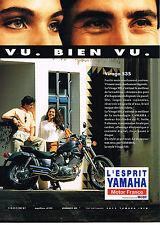 PUBLICITE ADVERTISING 074  1992  YAMAHA   moto VIRAGO 535