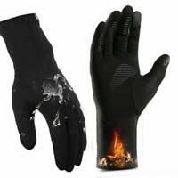 Mens Winter Warm Windproof Waterproof Fleece Lined Thermal Touch Screen Gloves ~
