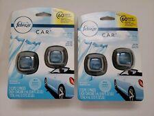 Febreze Car Air Freshener, Linen & Sky, 2 count