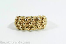 Vintage 9ct Gold Edwardian Style Keepers Ring, Size U, U.S. Size 10 1/4
