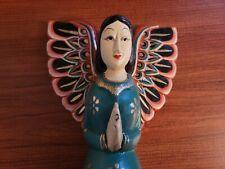 Hand-painted Wooden Angel Shelf-sitter