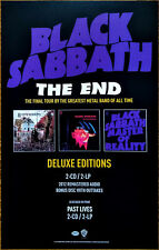 BLACK SABBATH The End Tour | Remastered Deluxe Editions Ltd Ed RARE Litho Poster