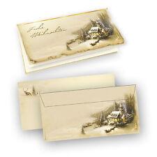 Tatmotive Weihnachtskarten mit Umschlag Winteridylle (100 Sets Inkl. Kuverts)