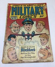 1945 Quality MILITARY COMICS #43 ~ Blackhawk