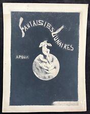 "Joseph Apoux c.1890 Drypoint Etching ""Fantaisies  Lunaires"" Publ. by Joly"