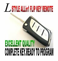 L-KEY STYLE FLIP remote for 10-14 Toyota FJ CRUSIER CHIP-L CLICKER fob ALARM FTG