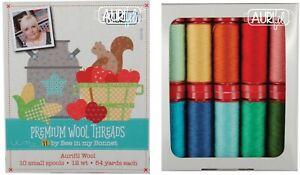 Aurifil Thread 12 wt Wool 10 small spools Premium Wool Threads by Lori Holt