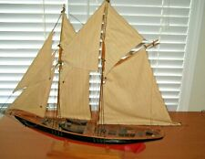Vintage Hand Made BLUENOSE CANADIAN SCHOONER Large Made in Peggys Cove
