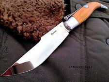 COUTEAU DE POCHE PLIANT À PALME BOIS OLIVIER KNIFE TASCHENMESSER COLTELLO 25CM