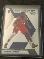 2019-20 Panini Mosaic Zion Williamson NBA Debut RC Pelicans #269