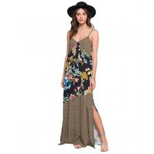Band of Gypsies Dress Size Small Candice Tropical Mix Print Maxi Boho Black