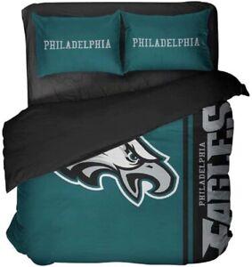 Philadelphia Eagles Duvet Cover Pillowcases 3PCS Bedding Set Quilt Cover US Size