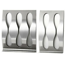 Stainless steel wall mount toothbrush holder Self-adhesive tooth brush box B8P5