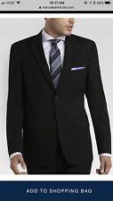 Pronto Uomo Platinum Black Suit Jacket, Size 42R