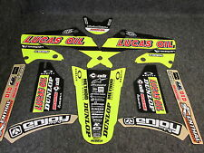 Honda CR125 CR250 2004-2007 TLD neon graphics set,seat cover + black plastic kit