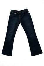 LEVIS 526 Mesdames stretch délavé foncé Low taille Bleu Jeans Bootcut W28 L32 UK10