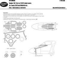 New Ware Mask NWAM0595 1/48 Douglas F4D-1 Skyray BASIC Tamiya
