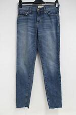 Current Elliott Damas Azul Denim Lavado de baja altura recortada Jeans Ajustados Slim W28L29