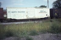 ST MARYS RAILROAD Rolling Stock Boxcar Original Photo Slide